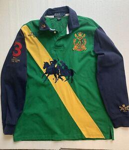Polo Ralph Lauren But Vintage Long Sleeve Rugby Shirt Big Pony Sz L