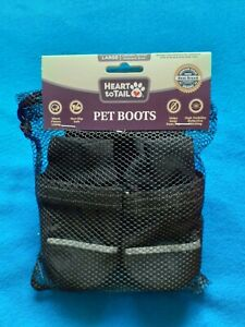 Heart to tail Pet Boots Two Pairs Warm Non-Slip Large