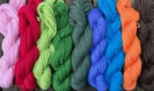 Pure wool yarn worsted weight, 9 skeins, 9 colors, 900 yards, one pound
