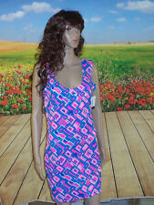 Large UV Glow Neon UV Glow Geometric Tank Style Bodycon Dress Fun Sexy Clubwear