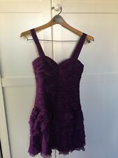 Rebecca Taylor NEW Purple Women's Size 0 TUTU Dress $450 NWT