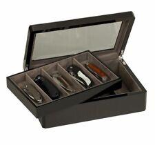Venlo Ten 10 Knife Display Case Holder with Glass Top Carbon Fiber 15 kc-10-cf15