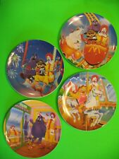 "1993 McDonalds Plates - Fun Park - set of 4, 9½"" plastic"