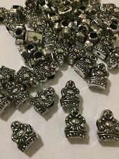 100 Acrylic BUDDHA Silver Pony Beads 14mm Hemp Paracord Craft Yoga Jewelry T5