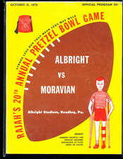 1970  Pretzel Bowl Game Football program  Albright vs Moravian em