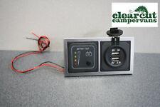CBE 12v Battery Condition Tester & Double USB Socket Motorhome/Caravan,Campervan