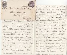 * 1895 Gt N O SCOTLAND RAILWAY HOTEL ADVERTISING COVER ABERDEEN TIME CODE LETTER