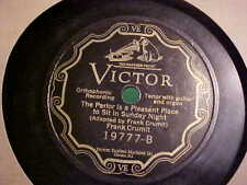 FRANK CRUMIT 78 RPM I'SE GOIN' FROM THE COTTONFIELD VICTOR RECORDS #19777