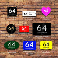 Personalised House / Door Number Signs, Acrylic Glass Effect Door Number Plaque