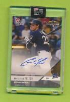 2018 Topps Now Postseason Auto - Christian Yelich (PS-91A)  Brewers 35/99