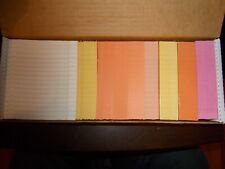 Box of 1000 Library Book Return Cards New in Box Mixed colors