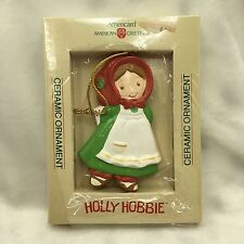 Holly Hobbie American Greetings Ceramic Ornament Box Americard Japan