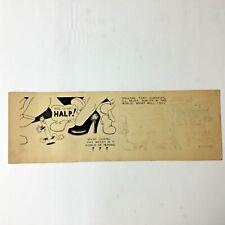 """WEEDY HERMAN"" ORIGINAL AL KILGORE ARTWORK ANTI- SMOKING CARTOON STRIP AK564"