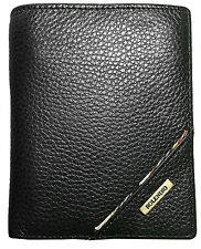 New Men's Black Leather Wallet Credit Card Holders Coin Zippered Pocket Purse