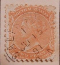 South Australia Queen Victoria 2 Two Pence Orange Postage Stamp #2