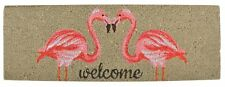 Esschert Design Flamingo Flamants Roses Noix de Coco Paillasson Porte