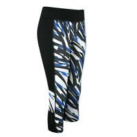 Peak Performance Running Crop Leggings with Reflective Print in Black - 54% OFF