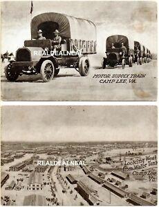 8 CAMP (FORT) LEE, Virginia World War I Unused 1917 Postcards  *XRARE*