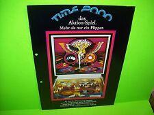 Atari TIME 2000 Lowen-Automaten German Text Original 1977 Pinball Machine Flyer