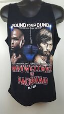 Mayweather VS Pacquiao Boxing Title Tank Top Large RARE