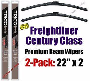 Wiper Blades 2-Pack Premium - fit 1996-2011 Freightliner Century Class - 19220x2