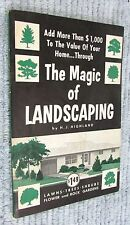 Vintage 1959 The Magic of Landscaping Highland Theodore Audel pb Book FREE S/H