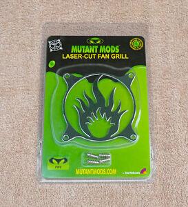 Mutant Mods Fire/Flame 80mm Silver Chrome Laser Cut Fan Grill Guard