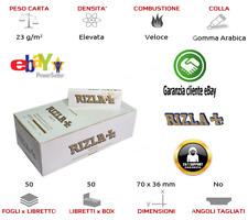 Rizla Cartine White Bianche Corte Regular Sigarette Paper Da 25 / 50 LIBRETTI