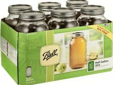 Ball Glass Mason Jars with Lids & Bands Wide Mouth 64 oz 6 Count Brand New