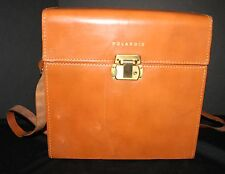 VTg POLAROID Camera Case Hard Shell Leather EUC