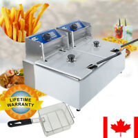 Automatic Dual Tanks Deep Fryer Steel Commercial Tabletop French Fry Fast Food