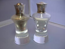 PAIR STEUBEN SALT AND PEPPER SHAKERS W/ STERLING TOPS