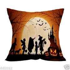 Halloween Home Decor Cotton Linen Pillow Case Sofa Waist Throw Cushion Cover