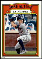 Jose Altuve 2021 Topps Heritage 5x7 #44 /49 Astros In Action