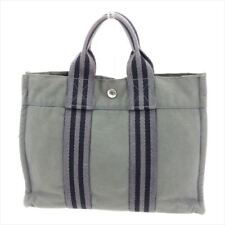 68731300494 Hermes Tote bag Fourre Tout Grey Woman unisex Authentic Used G1251