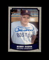 Bobby Doerr Hand Signed 1989 Pacific Baseball Legends Boston Red Sox Autograph