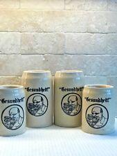 "Ceramic ""Gesundheit!"" Beer Mug Set of 4"