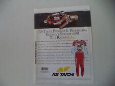 advertising Pubblicità 1991 RS TAICHI e KEVIN SCHWANTZ SUZUKI LUCKY STRIKE TEAM