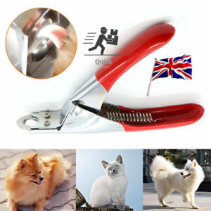 Pet Dog Cat Nail Toe Claw Clippers Scissor Trimmer Shear Cutter Grooming Tool UK