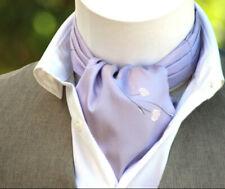 Men's Cravat Ascot Purple Mens Tie Silk Day Cravat Ascot A107 Mens Tie