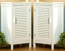 Sale * Set of 2 ** NANTUCKET WHITE CABINETS-NIGHT TABLE S*Slatted-2 Shelves* NIB