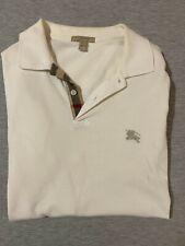 Burberry Brit Men's Short-Sleeve Pique Polo Shirt Nova Check Pattern White