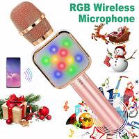 Wireless Bluetooth Microphone Karaoke Carry KTV Handheld Mic USB Speaker Player