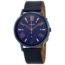 Fossil Gazer Blue Dial Ladies Leather Watch ES4109