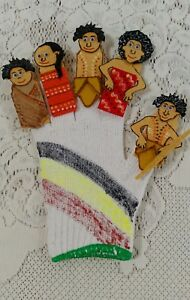 FELT STORY/GLOVE PUPPET/EDUCATIONAL TEACHER RESOURCE -FAMILY FINGERS INDIGENOUS.