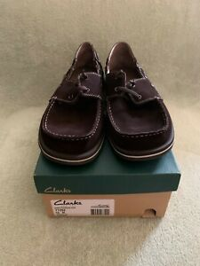 BNWOB Men's Clarks Couch Slippers Brown Size US 10M
