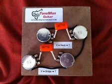 Tone Man Classic 50s Wiring Kit Fits Gibson Epiphone Les Paul Short Shaft Pots