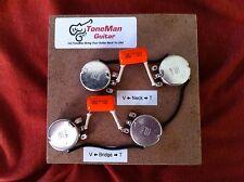 Tone Man Classic 50s Wiring Kit Fits Gibson Epiphone Les Paul Short Shaft Pots