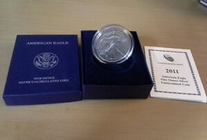 2011 U.S. Mint American Eagle one ounce Silver Uncirculated Coin