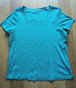 Womens Blue Square neck T-Shirt by BM - Size: XL